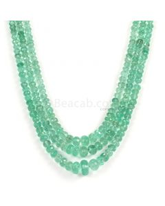 3 Lines - Light Green Emerald Faceted Beads - 270.00 - 4.2 to 11 mm (EMFB1091)