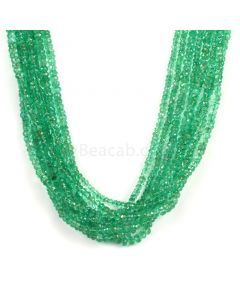 8 Lines - Medium Green Emerald Faceted Beads - 397.00 - 2 to 4.8 mm (EMFB1106)