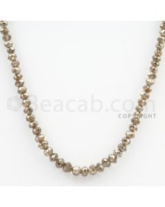Brown Diamond Faceted Beads - 1 Line - 39.34 carats (BrnDia1012)