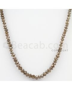 Brown Diamond Faceted Beads - 1 Line - 39.94 carats (BrnDia1013)