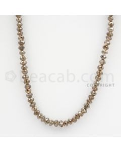 Brown Diamond Faceted Beads - 1 Line - 40.50 carats (BrnDia1014)