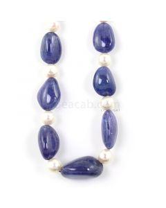 1 Line - Medium Violet Tanzanite Tumbled Beads - 341.00 - 11.7 x 9.7 mm to 22.7 x 15.6 mm (TZTUB1014)