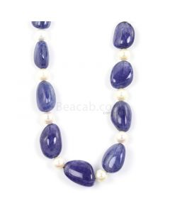 1 Line - Medium Violet Tanzanite Tumbled Beads - 396.50 - 13.2 x 10 mm to 20.5 x 12.9 mm (TZTUB1012)