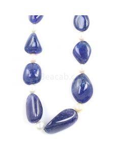 1 Line - Medium Violet Tanzanite Tumbled Beads - 430.00 - 12 x 7.9 mm to 27.5 x 14.9 mm (TZTUB1013)