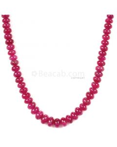 1 Line - Medium Red Ruby Smooth (Plain) Beads - 118.65 - 3.8 to 6.5 mm (RSB1053)