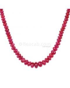 1 Line - Medium Red Ruby Smooth (Plain) Beads - 85 - 3 to 7 mm (RSB1050)