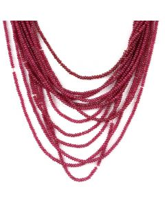 13 Lines - Medium Red Ruby Smooth (Plain) Beads - 278 - 2 to 2.5 mm (RSB1060)