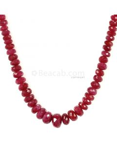 1 Line - Medium Red Ruby Faceted Beads - 93.50 - 3.3 to 8.1 mm (RFB1127)