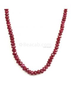 1 Line - Medium Red Ruby Faceted Beads - 135 - 3.3 to 6.1 mm (RFB1128)
