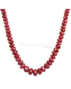 1 Line - Medium Red Ruby Faceted Beads - 140.50 - 3.5 to 8.3 mm (RFB1124)
