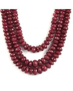 3 Lines - Faceted Dark Red Ruby Beads - 823 - 4 to 10.8 mm (RFB1119)