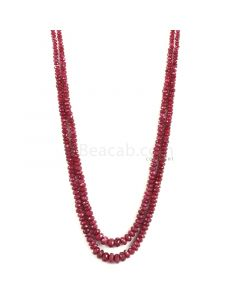 2 Lines - Medium Red Faceted Ruby Beads - 323 - 4.5 to 9.5 mm (RFB1122)