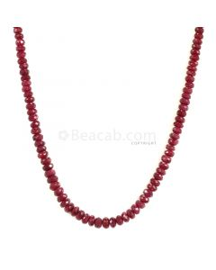 1 Line - Medium Red Ruby Faceted Beads - 138.15 - 3.5 to 6.2 mm (RFB1129)