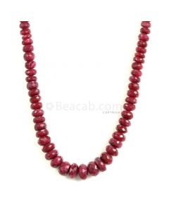 1 Line - Medium Red Ruby Faceted Beads - 246 - 3.9 to 10.1 mm (RFB1145)