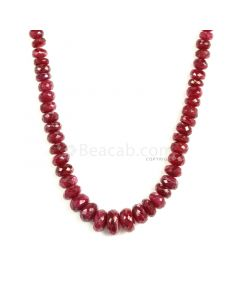 1 Line - Medium Red Ruby Faceted Beads - 171.70 - 2.8 to 10.5 mm (RFB1136)