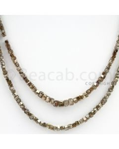 Brown Diamond Cubes - 2 Lines - 36.00 carats (BrnDia1002)
