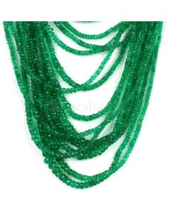 33 Lines - Medium Green Emerald Faceted Beads - 1318.00 - 2.5 to 7.5 mm (EMFB1108)