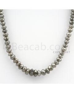4 to 8 mm - Faceted Fancy Diamond Beads - 1 Line - 99.90 carats (FncyDia1009)
