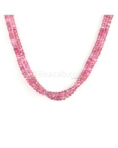 2 Lines - Light Pink Tourmaline Faceted Beads - 82.00 cts - 3 to 4.3 mm (TOFB1028)