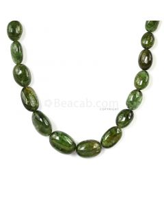 1 Line - Dark Green Peridot Tumbled Beads - 250.00 cts - 7.9 x 6.1 mm to 17.8 x 12.5 mm (PDTUB1011)