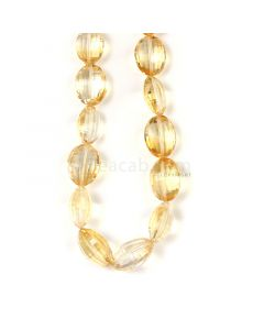 1 Line - Medium Yellow Citrine Faceted Tumbled Beads - 271.00 cts - 13.1 x 4.1 mm to 17.4 x 13.5 mm  (CITFT1002)
