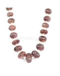 1 Line - Medium Tones Multi Sapphire Carved Beads - 884.50 cts - 10.2 to 20.3 mm (MSCRB1003)