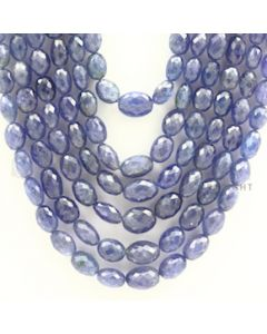 7.00 to 13.00 mm - Tanzanite Faceted Tumbled Beads - 1189.00 carats - 15 to 21 inches (TzFTuB1001)