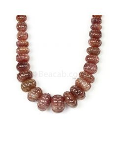 1 Line - Dark Tones Multi-Sapphire Carved Beads - 1291.00 cts - 8.7 to 23.7 mm (MSCRB1005)
