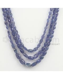 5.50 to 9.50 mm - Tanzanite Faceted Tumbled Beads - 144.66 carats - 14 to 16 inches (TzFTuB1010)