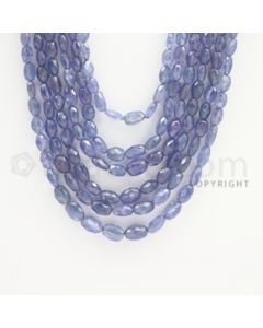 4.00 to 9.00 mm - Tanzanite Faceted Tumbled Beads - 494.25 carats - 21 to 24 inches (TzFTuB1015)