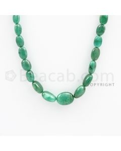 6.00 to 14.50 mm - Emerald Tumbled Beads - 123.15 carats - 21 inches (EmTuB1006)