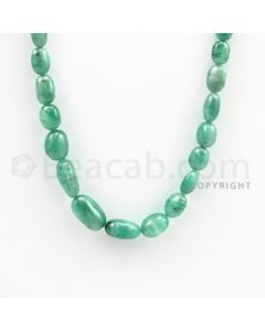 6.00 to 14.50 mm - Emerald Tumbled Beads - 116.00 carats - 19 inches (EmTuB1007)