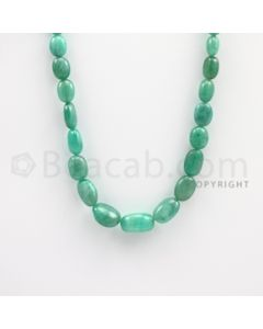 5.50 to 14.50 mm - Emerald Tumbled Beads - 138.00 carats - 20 inches (EmTuB1009)