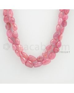 Pink Sapphire Faceted Tumbled Beads - 17 to 18 inches (PnSFTuB1004)