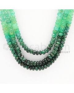 4.00 to 4.60 mm - 3 Lines - Emerald Faceted Beads - 22 to 24 inches (EFBSh1003)