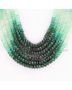 3.50 to 4.50 mm - 6 Lines - Emerald Faceted Beads - 17 to 20 inches (EFBSh1004)