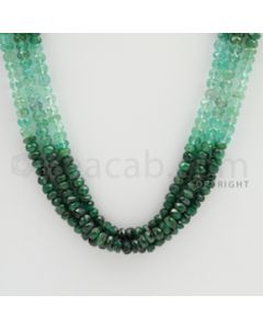 3.50 to 4.00 mm - 3 Lines - Emerald Faceted Beads - 18 to 19 inches (EFBSh1007)
