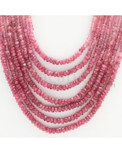3.00 to 3.40 mm - 7 Lines - Ruby Faceted Beads - 20 to 24 inches (RFBSh1001)
