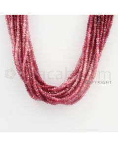 2.50 to 3.00 mm - 15 Lines - Ruby Faceted Beads - 18 inches (RFBSh1005)