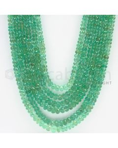 2.70 to 5.00 mm - 6 Lines - Emerald Faceted Beads - 21 to 24 inches (EmFB1018)