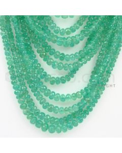 3.50 to 8.00 mm - 18 Lines - Emerald Faceted Beads - 13 to 27 inches (EmFB1019)