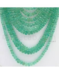 3.00 to 9.00 mm - 13 Lines - Emerald Faceted Beads - 14 to 27 inches (EmFB1020)
