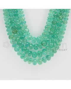 3.00 to 8.00 mm - 4 Lines - Emerald Faceted Beads - 21 to 24 inches (EmFB1022)