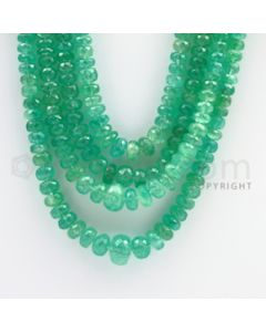 5.00 to 13.00 mm - 4 Lines - Emerald Faceted Beads - 14 to 17 inches (EmFB1023)