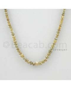 2.20 to 5.00 mm - 1 Line - Fancy Diamond Faceted Beads - 14 inches (FncyDia1025)