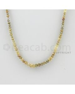 2.00 to 4.30 mm - 1 Line - Fancy Diamond Faceted Beads - 15 inches (FncyDia1027)