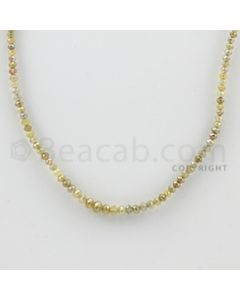 2.00 to 4.00 mm - 1 Line - Fancy Diamond Faceted Beads - 16 inches (FncyDia1029)