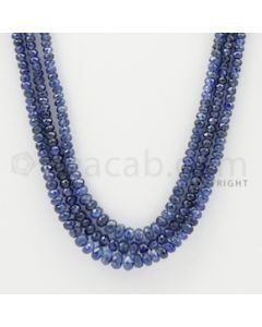 2.50 to 5.00 mm - 3 Lines - Sapphire Faceted Beads - 19 to 20 inches (SFB1006)