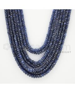 2.50 to 5.00 mm - 7 Lines - Sapphire Faceted Beads - 16 to 21 inches (SFB1007)