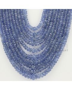 2.50 to 5.50 mm - 10 Lines - Sapphire Faceted Beads - 18 to 23 inches (SFB1025)